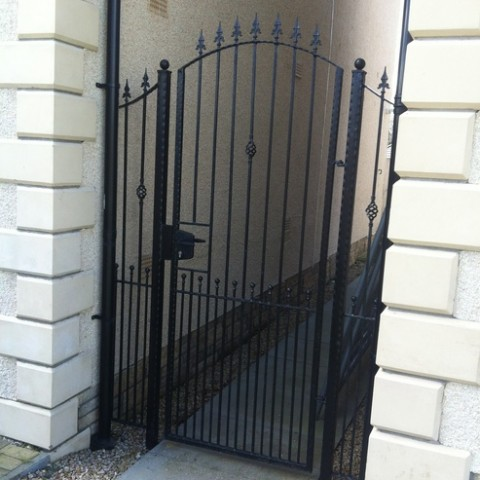 Arched Wrought Iron Gates